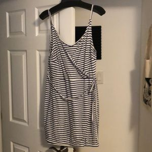 Striped Summer Wrap Dress